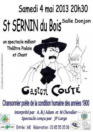 Tract OMC spectacle Gaston Couté