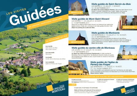Flyer visites guidées 2017